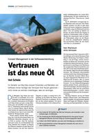 »Vertrauen ist das neue Öl« in iX 03/2021