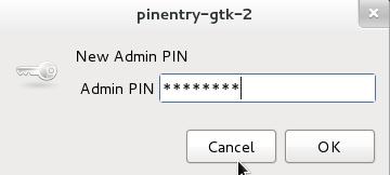 Neue GPG-Admin-PIN