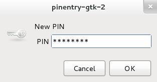 Neue GPG-PIN