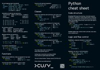 Cheat sheets for our Python seminars